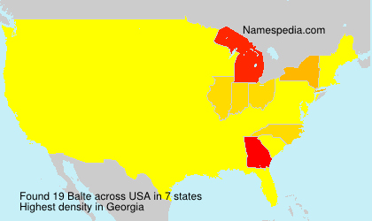 Surname Balte in USA
