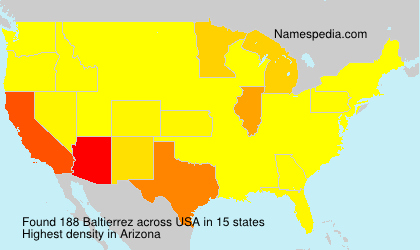Surname Baltierrez in USA