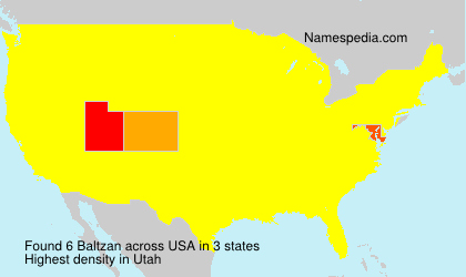 Surname Baltzan in USA
