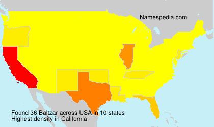 Surname Baltzar in USA