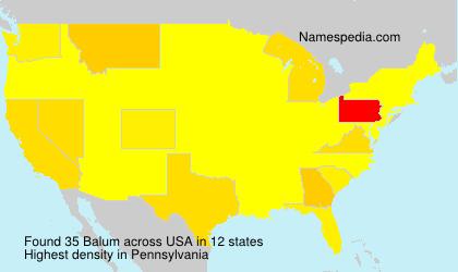 Surname Balum in USA