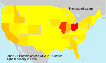 Familiennamen Bambic - USA