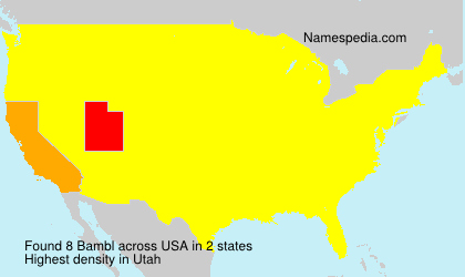 Surname Bambl in USA