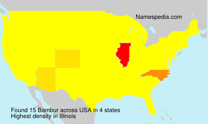 Surname Bambur in USA