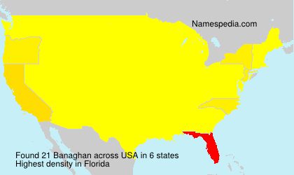 Surname Banaghan in USA