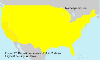Surname Banasihan in USA