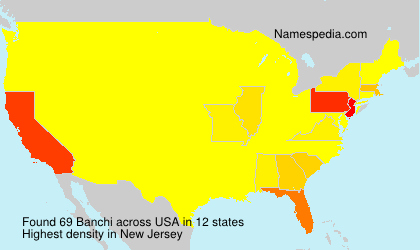 Surname Banchi in USA