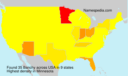 Surname Banchy in USA