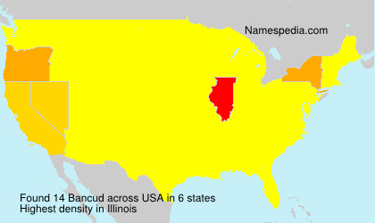Surname Bancud in USA