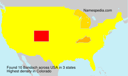 Surname Bandach in USA