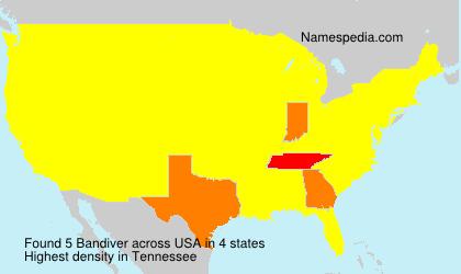 Familiennamen Bandiver - USA