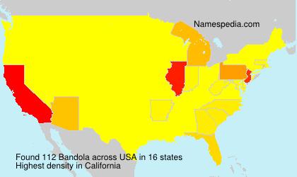 Familiennamen Bandola - USA