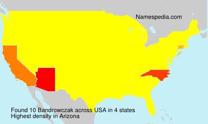 Surname Bandrowczak in USA
