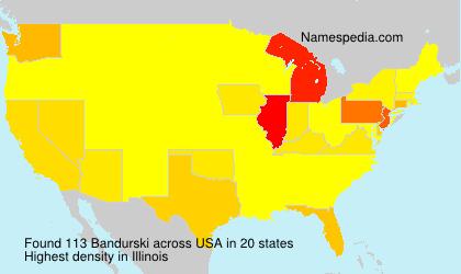 Familiennamen Bandurski - USA