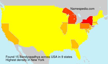 Surname Bandyopadhya in USA