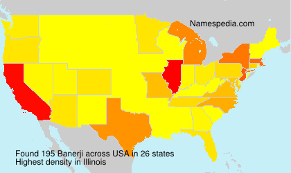 Surname Banerji in USA