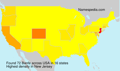 Surname Banfe in USA