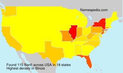 Familiennamen Banfi - USA