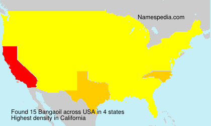 Surname Bangaoil in USA