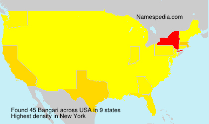 Surname Bangari in USA