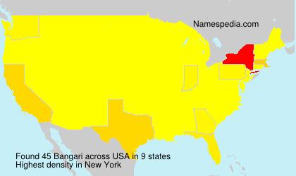 Familiennamen Bangari - USA