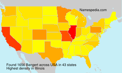 Surname Bangert in USA