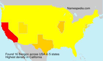 Surname Bangon in USA