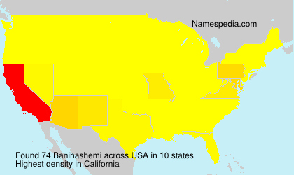 Surname Banihashemi in USA