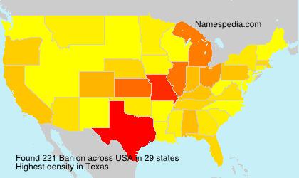 Surname Banion in USA