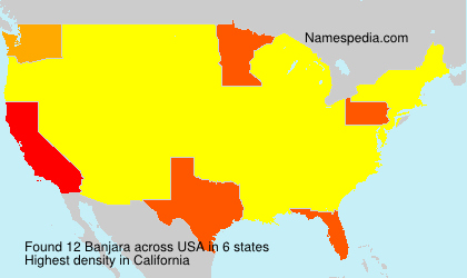 Surname Banjara in USA