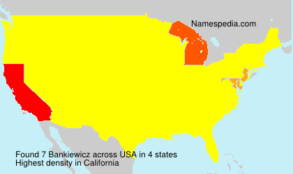 Surname Bankiewicz in USA
