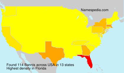 Familiennamen Bannis - USA