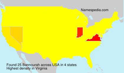 Surname Bannourah in USA