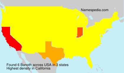 Surname Banoth in USA
