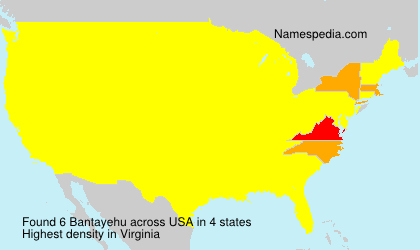 Familiennamen Bantayehu - USA