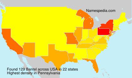 Surname Bantel in USA