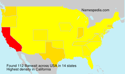 Surname Banwait in USA