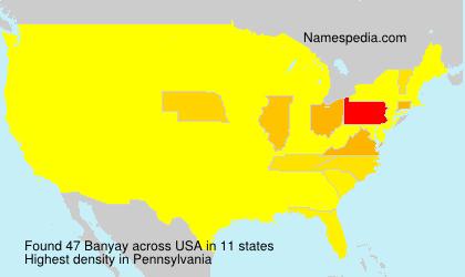 Surname Banyay in USA