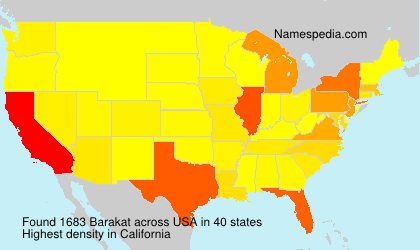 Surname Barakat in USA