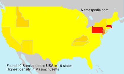 Surname Barako in USA