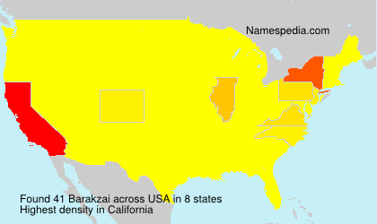 Surname Barakzai in USA