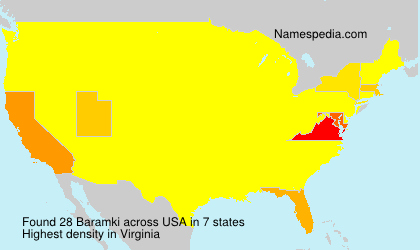 Surname Baramki in USA