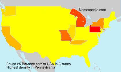Surname Baranec in USA