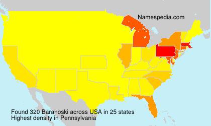 Surname Baranoski in USA