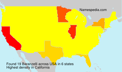 Surname Baranzelli in USA