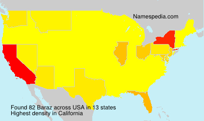 Surname Baraz in USA