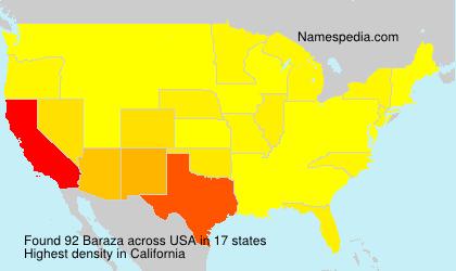Surname Baraza in USA