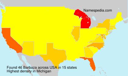 Surname Barbaza in USA