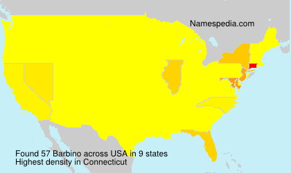 Surname Barbino in USA