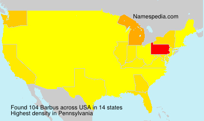 Surname Barbus in USA